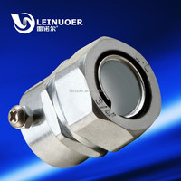 zinc fitting flexible pipe joint cirlip self secured style union IP65