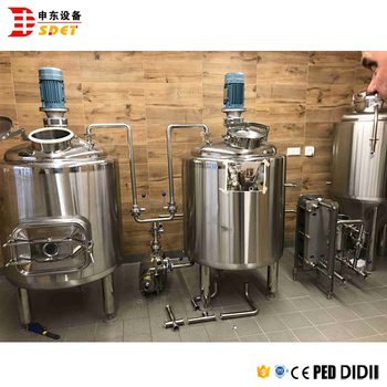 small scale 100l 200l micro brewery system
