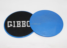 2 Blue Plates,GIBBON Exercise Core Sliders, Gliding Discs Abdominal trainers with stretch strap