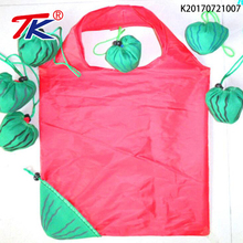 Custom watermelon shape eco friendly polyester foldable shopping bag