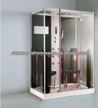 Luxury control system rectangle Steam Shower cabin for bathroom