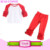 Wholesale baby girl icing raglan tops & pants 2 pieces sets boutique kids cotton ruffle clothing sets