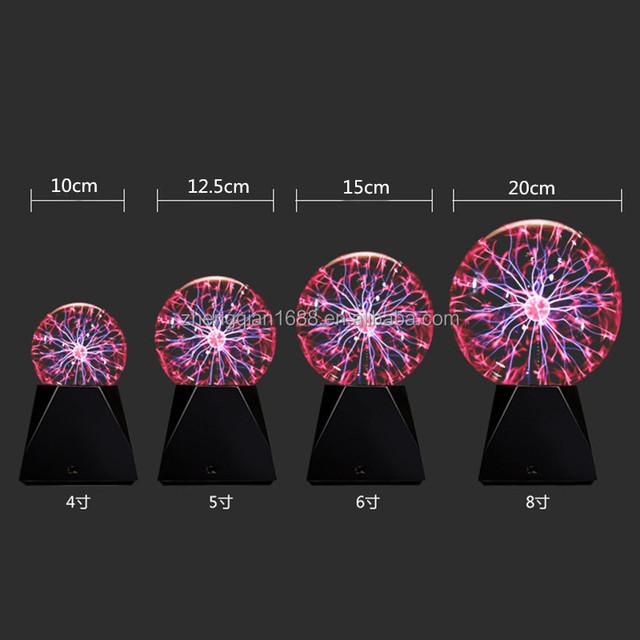 Hot selling! 3/4/5/6/8/10'' inches USB Plasma Ball, Big Size Magic Ball