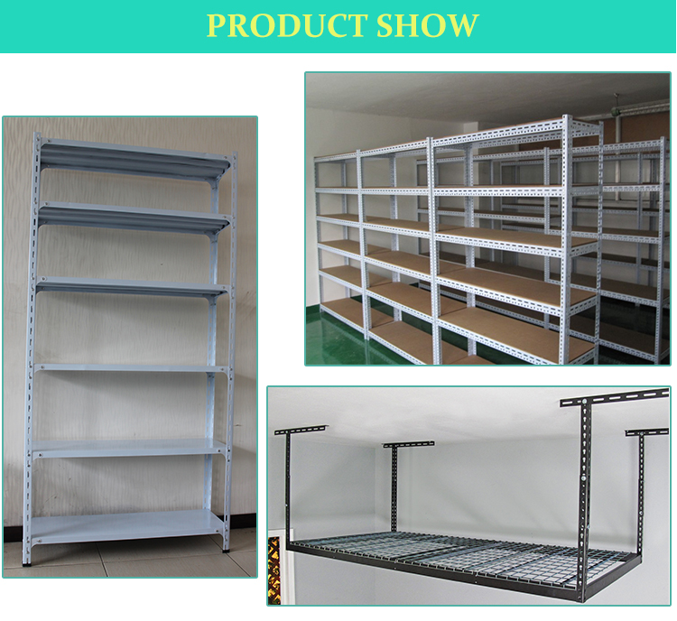 Durable Slotted Angle Steel Rack Shelving System