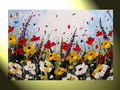 cheap price flowers oil painting on canvas