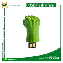 Green giant fist shaped memory stick 128gb usb flash drive usb 2.0 pen stick memory