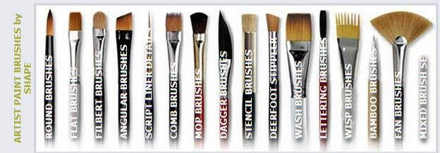 Weasel brush watercolor painting brush round weasel artist for Wholesale craft paint brushes