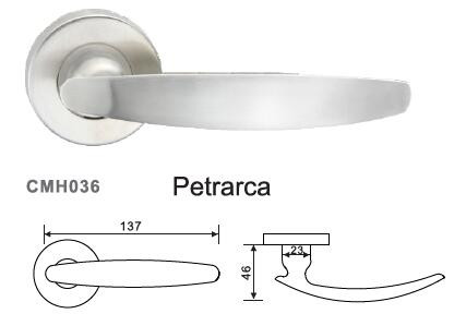 Solid stainless steel design door handle