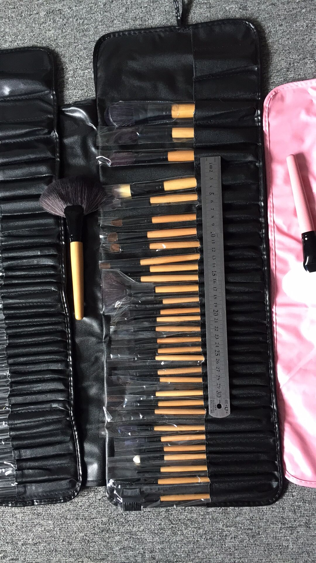 Factory Price Pro 32pcs Original Size Makeup Tools Synthetic Soft Brushes Set Make up Cosmetic with PU case