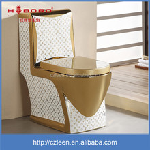 Professional design one piece ceramic gold toilet combustion