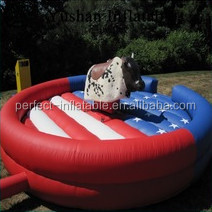 Amazing and factory price inflatable mechanical bull, inflatable red bull
