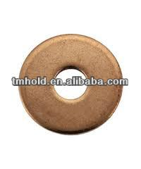 thick copper coin washer to specification for bearing lock