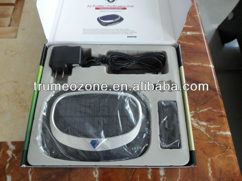 Auto ozone air refresher with ionizer and ozonizer and perfume