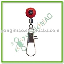 Big style plastic swivel clip and interlock fishing snap