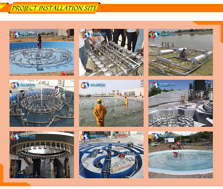 Factory Make Stainless Steel Pond Grand Showing Water Fountains