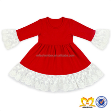 Girl Red Dress With Lace Trim Baby Cotton Frocks Designs Normal Frocks Images