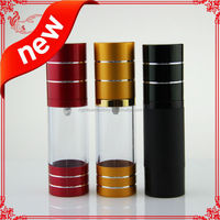 airless spray pump bottle 50ml cosmetic bottles cut line on top cap