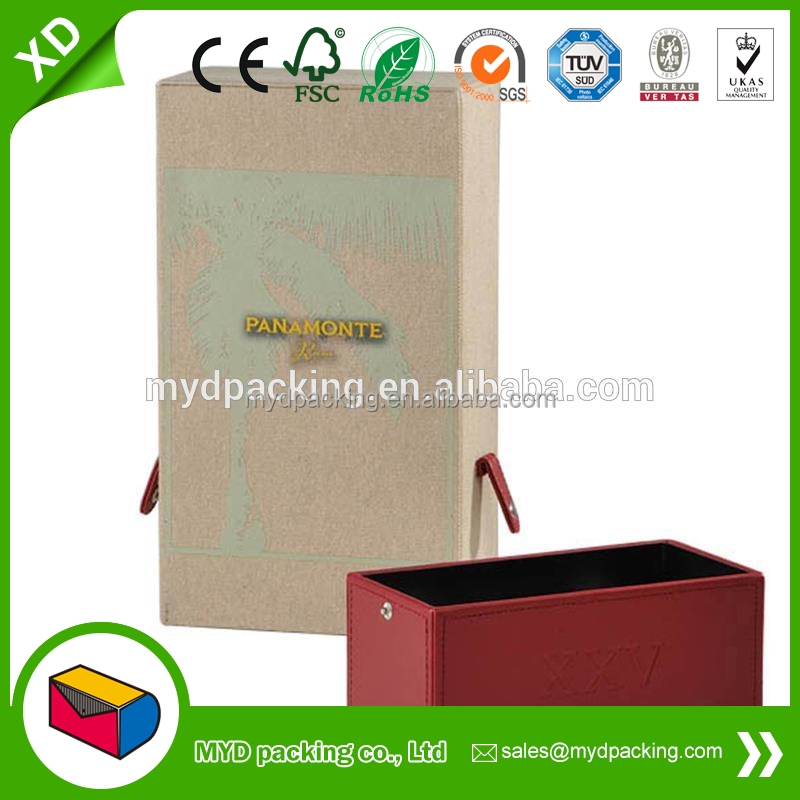 Professional leather wine bag carrier with CE certificate