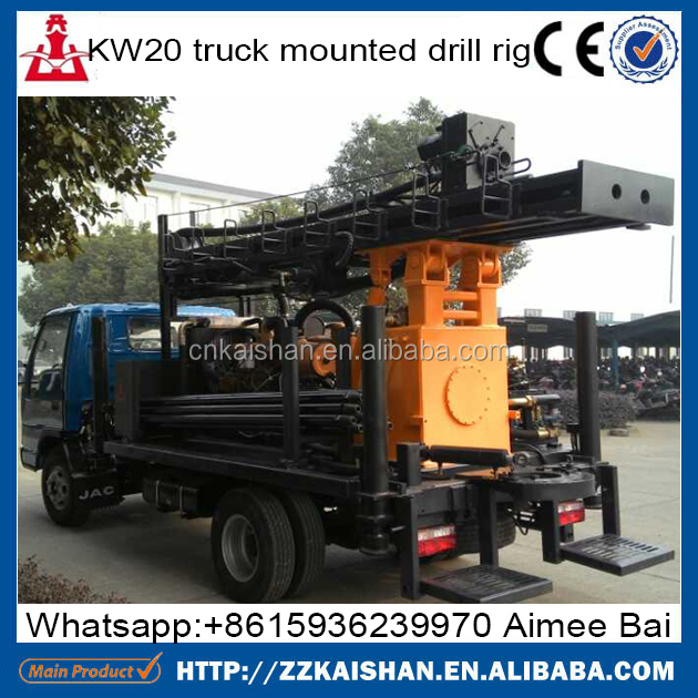 Factory cheaper price water bore well drilling machine in tamilnadu KW20 truck mounted drill rig