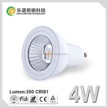 Sweden hot selling!! 400LM 3030 led spot gu10 4w Dimmable 220v CE Rohs