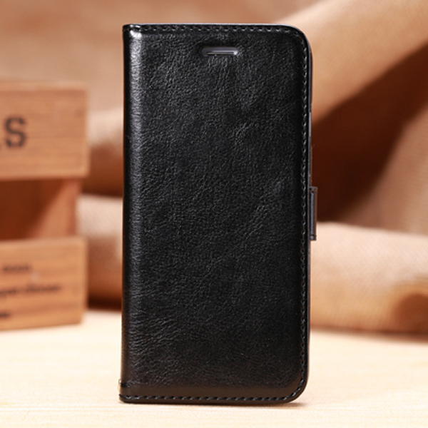 Leather back cover for iPhone6, flip wallet phone case for iPhone 6 Plus