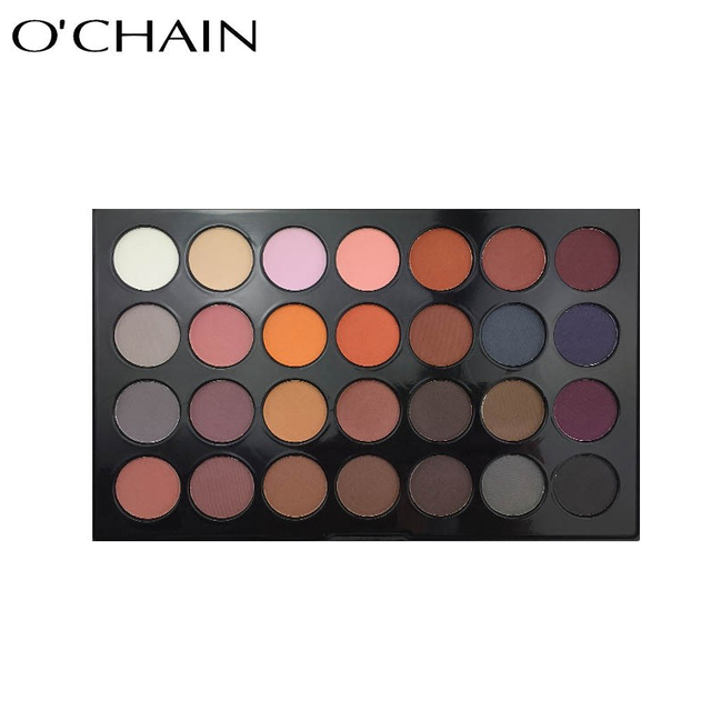 Factory wholesale excellent pigment 28 color eyeshadow palette