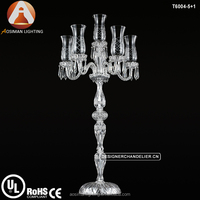 Baccarat Style Candelabra Wedding with 6 Candles