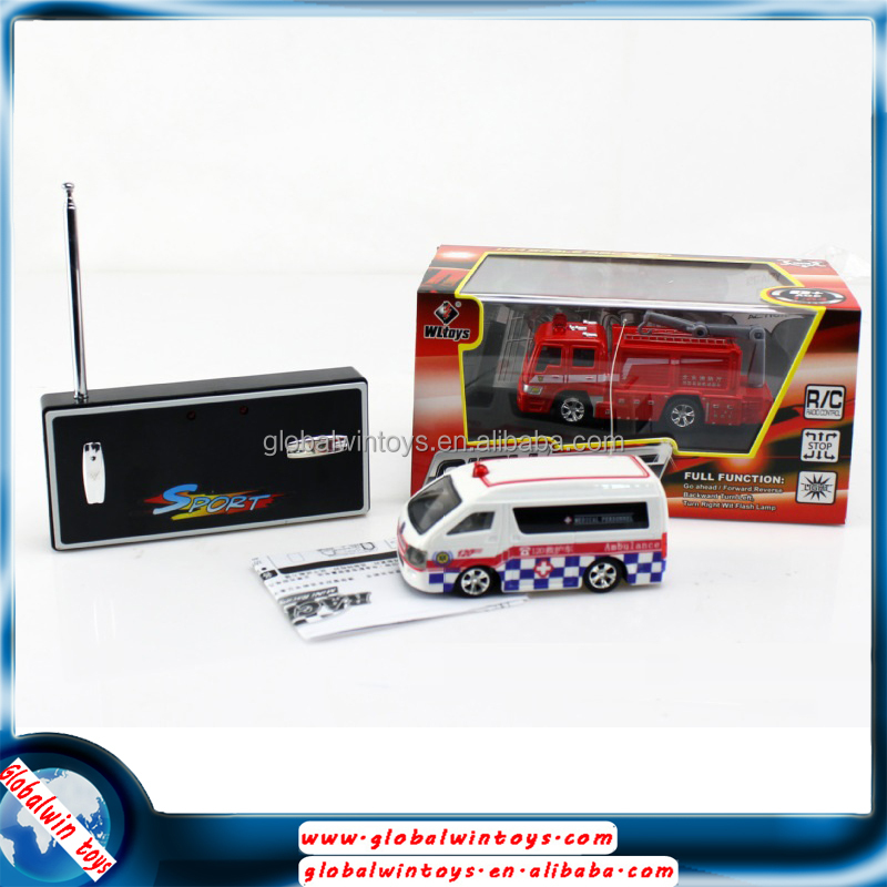 Chilren love rc fire engine,remote control mini bus toy
