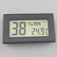 Digital LCD mini thermo hygrometer dry wet