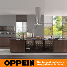 High quality laminated plywood luxury kitchen cabinet oppein furniture