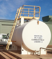 Square elliptical head waste oil tank with good price