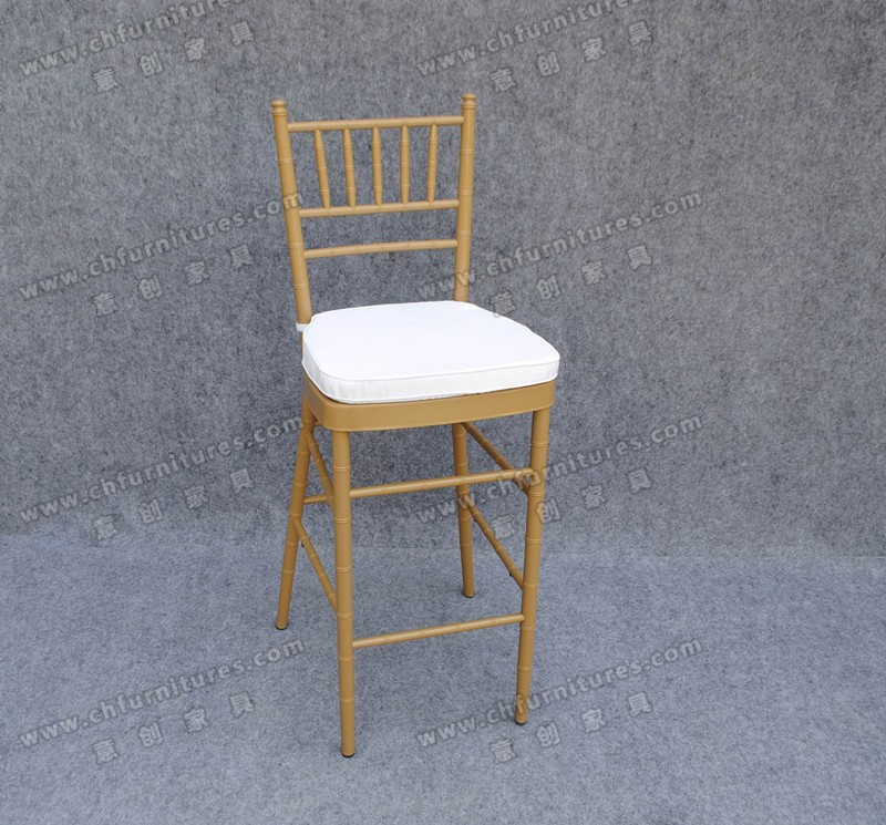 Elegant aluminum wedding bar stool high chair YC-A106-01