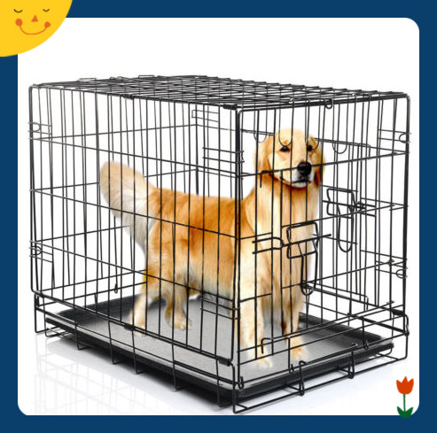 "48 42 36 30 24"" Pet Folding Suitcase Dog Cat Crate Cage Kennel w/ABS Tray"