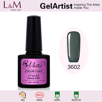 Private Brand GelArtist Supply 10ml Soak Off UV Gel Nail Varnish