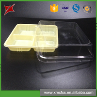 Different type food plastic PP compartment disposable bento box
