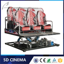 Amusement Park Rides System 5D Theater Seat Hydraulic/Electric Transmission 4D 5D Cinema