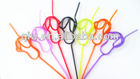 crazy straw PET art straw, PET straw, Slippers shape drinking straw