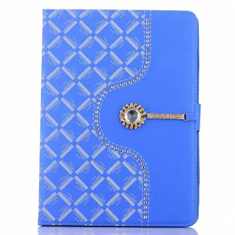 New design Folio Case Cover Stand in Premium PU Leather diamond case for Apple iPad2/3/4 Mini or iPad air/air 2