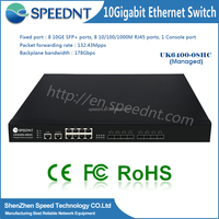 Competitive price Computer hardware flexible networking capability 10g switch/ 8 sfp+ & rj45 ports switching