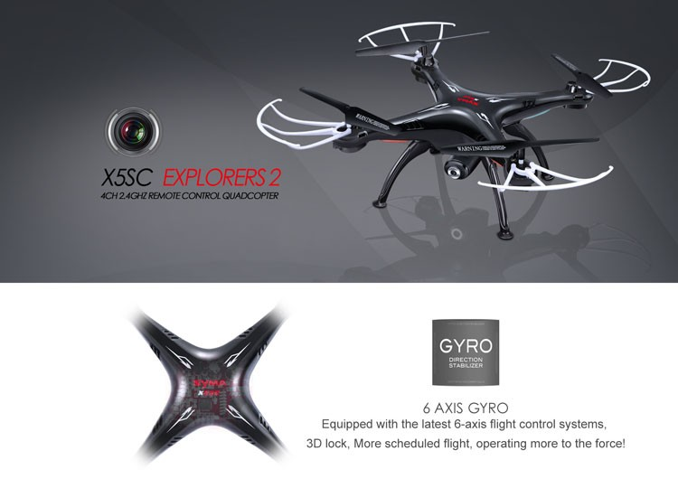 SYMA New Arrive X5SC Middle Drone with HD Camera