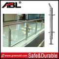 HOT sale ABLinox stainless steel glass veranda railings wood balcony balustrade