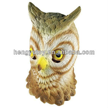 Adult Full Head Rubber Animal Bird Party Mask Wise Owl