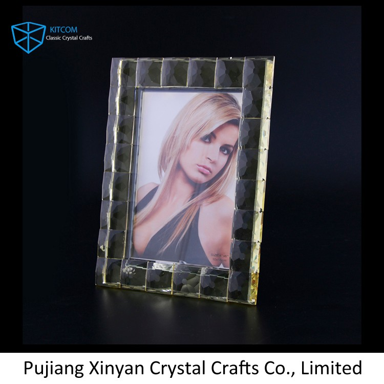 New selling custom Faceted Crystal Pillar Candle Holder