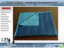 Waterproof blue two-tune furniture protection pad with non woven fabric cover