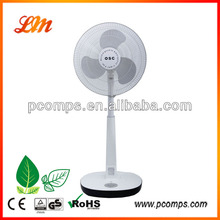 New Design 12V Battery Rechargeable Standing Fan with LCD