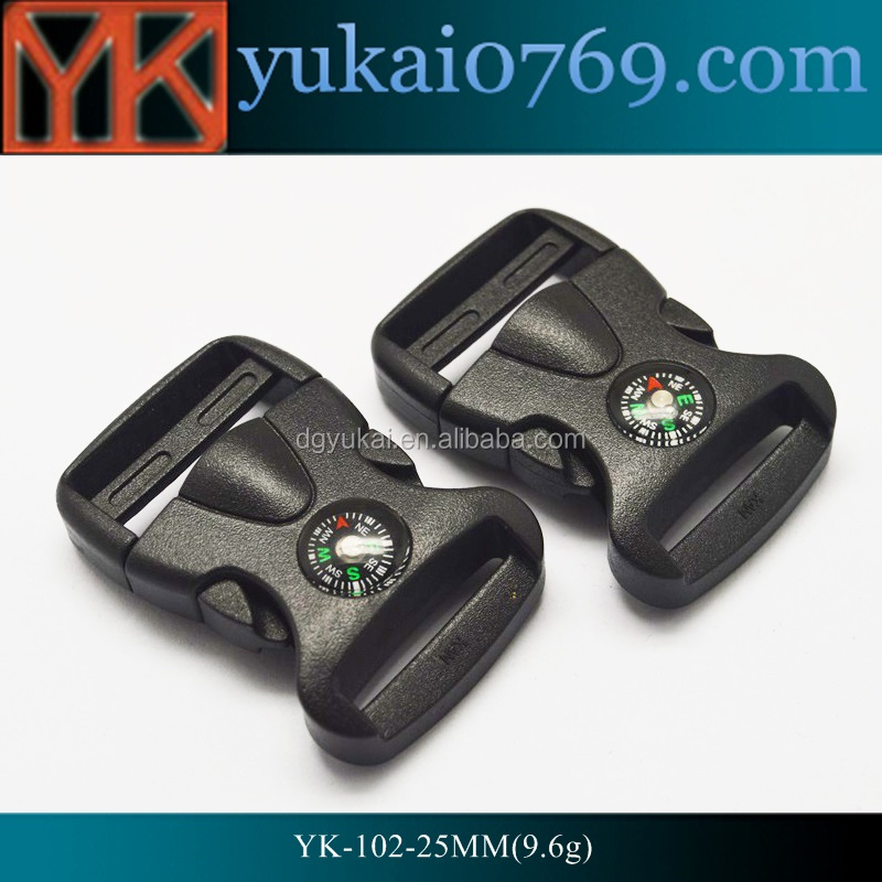Yukai hot sale contoured side release plastic buckle for bag and collars