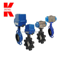 motorised eccentricity cast iron butterfly valve pneumatic
