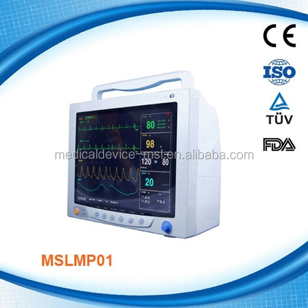 Promotion !!! Multi-parameter portable patient monitor /Ecg machine with good price MSLMP01H