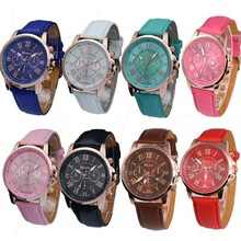leather geneva watches china , geneva wrist woman watch