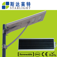 factory price no pollution&UV high capacity battery save energy water-proof led solar street light